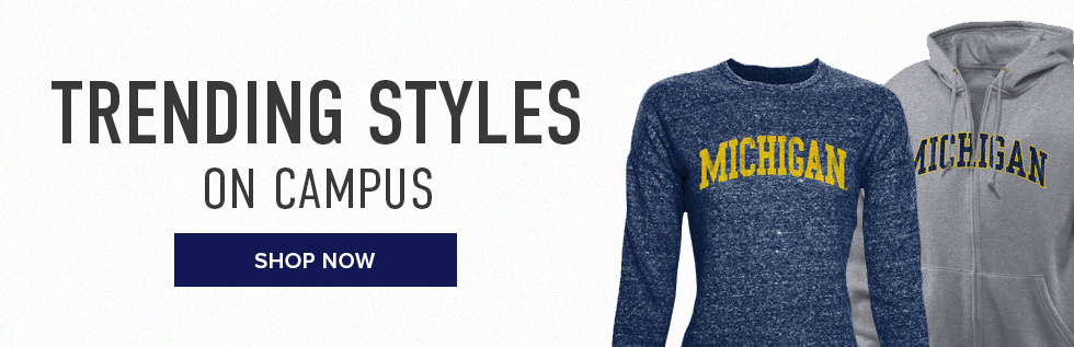 Picture of shirts. Trending styles on campus. Click to shop now.