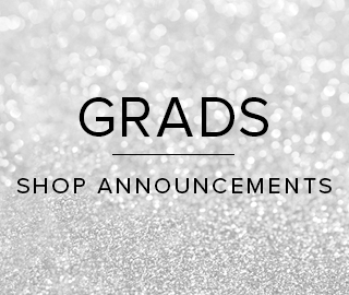 Sparkling background with text. Grads, click to shop announcements.