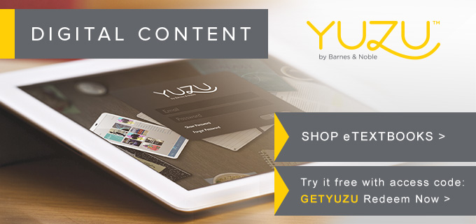 Picture of tablet. Yuzu by Barnes & Noble, Digital Content.
