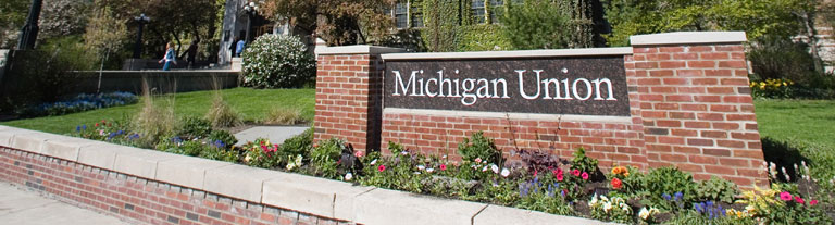 Photo of Michigan Union sign